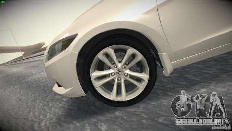Honda CR-Z 2010 V1.0 para GTA San Andreas vista inferior