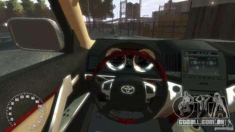 Toyota Land Cruiser 200 2010 para GTA 4 vista de volta