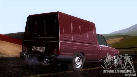 IZH 27175 para GTA San Andreas vista traseira