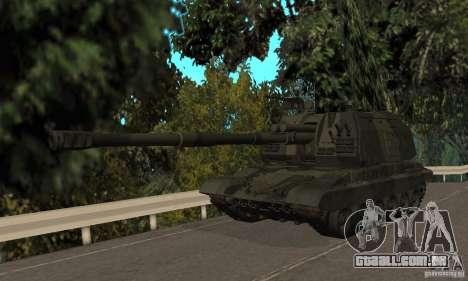 2S19 Msta-s, versão standard para GTA San Andreas esquerda vista