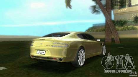 Aston Martin Rapide para GTA Vice City vista traseira esquerda