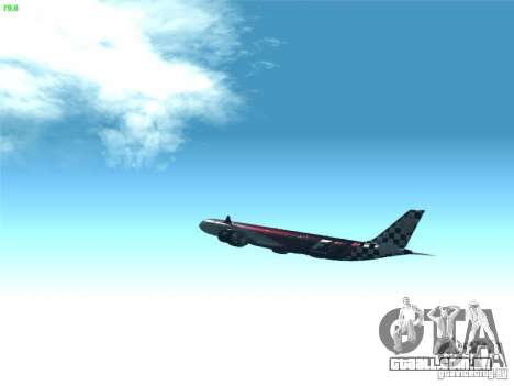 Airbus A340-600 Etihad Airways F1 Livrey para GTA San Andreas vista interior