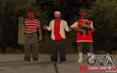 Novas skins de The Gang de Los Aztecas para GTA San Andreas