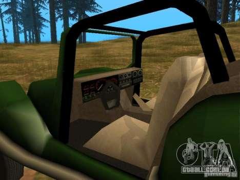 Nova injecção de BF para GTA San Andreas vista traseira