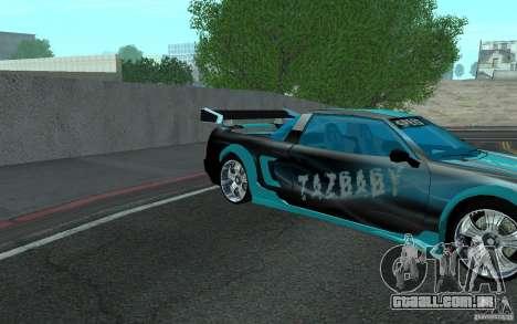 Baby blue Infernus para GTA San Andreas vista direita