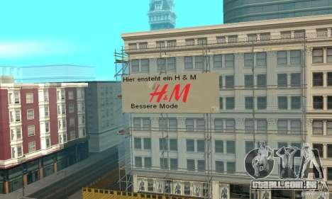 Werbeschildermod para GTA San Andreas segunda tela