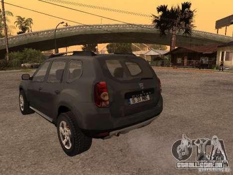 Dacia Duster para GTA San Andreas vista traseira