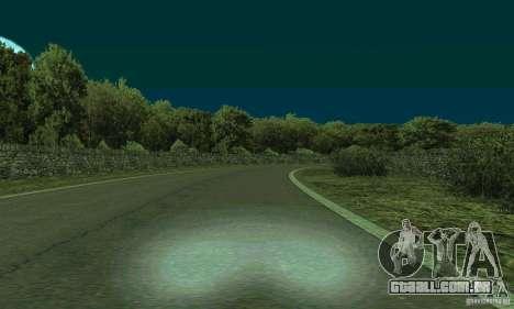 A rota do rali para GTA San Andreas terceira tela