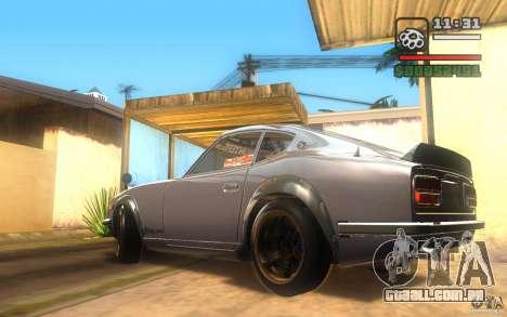 Datsun 240ZG para GTA San Andreas traseira esquerda vista