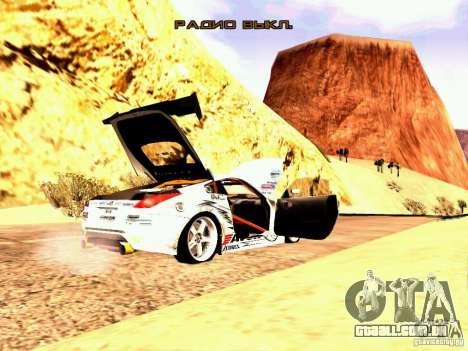 Nissan 350Z Avon Tires para GTA San Andreas vista direita