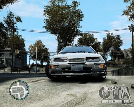 Ford Sierra RS500 Cosworth v1.0 para GTA 4 vista de volta