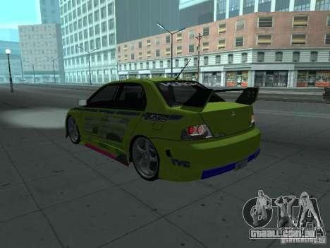 Mitsubishi Lancer Evolution 8 para o motor de GTA San Andreas