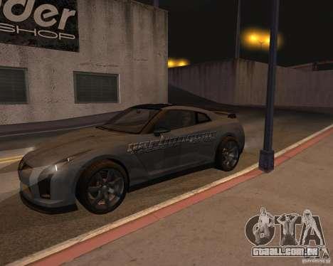 Nissan GT-R Pronto para GTA San Andreas vista superior