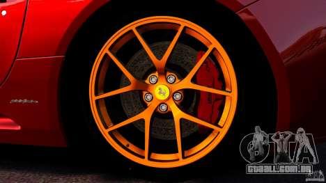 Ferrari California Novitec para GTA 4 vista inferior