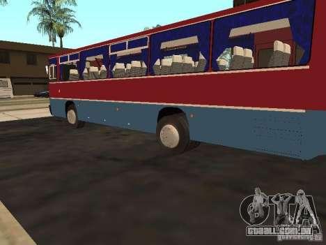 Ikarus 255 para GTA San Andreas traseira esquerda vista