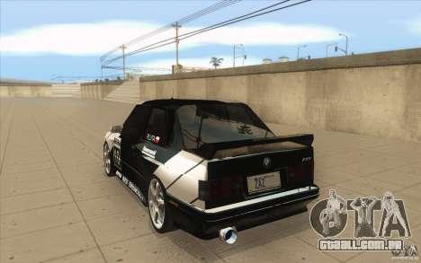 BMW E30 M3 - Coupe Explosive para GTA San Andreas traseira esquerda vista