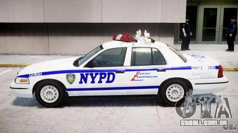 Ford Crown Victoria NYPD para GTA 4 traseira esquerda vista