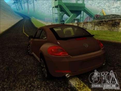 Volkswagen Beetle Turbo 2012 para GTA San Andreas esquerda vista