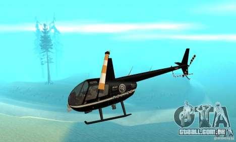 Robinson R44 Raven II NC 1.0 preto para GTA San Andreas