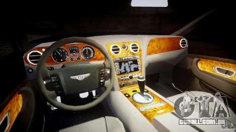 Bentley Continental GT v2.0 para GTA 4 vista de volta