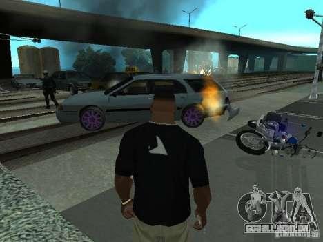 As máquinas de explosão realista para GTA San Andreas por diante tela