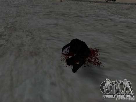 Ferido por um tiro para GTA San Andreas por diante tela