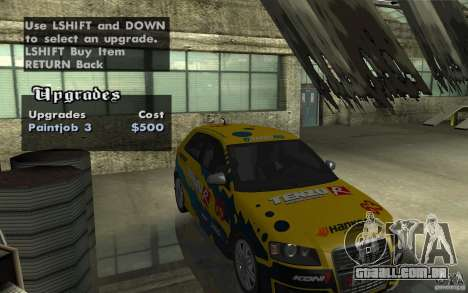 Audi S3 Tunable para GTA San Andreas vista superior