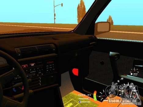 BMW E30 87-91 para GTA San Andreas vista superior