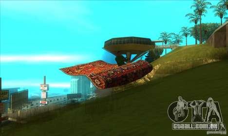 Flying Carpet v.1.1 para GTA San Andreas vista interior