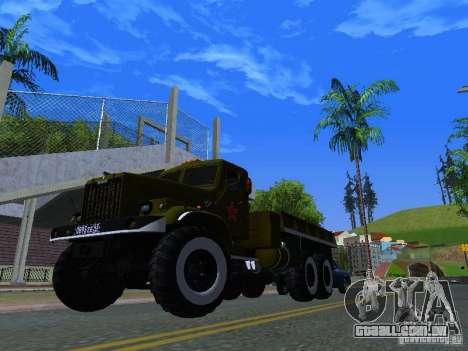 KrAZ caminhão Parade para GTA San Andreas vista interior