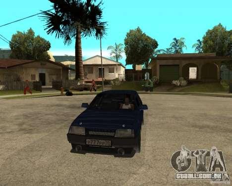 Vaz 21099 Tuning por Danil para GTA San Andreas vista traseira
