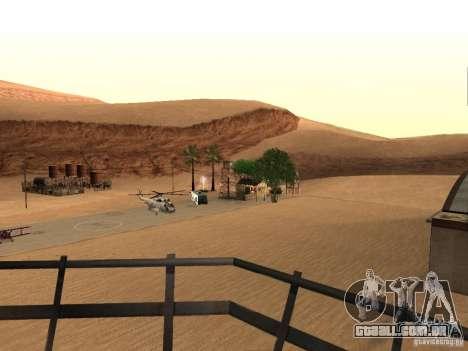 Novas instalações para o aeroporto no deserto para GTA San Andreas por diante tela