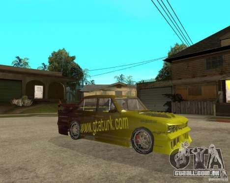 Anadol GtaTurk Drift Car para GTA San Andreas vista direita