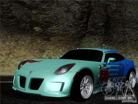 Pontiac Solstice Falken Tire para GTA San Andreas esquerda vista