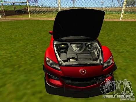 Mazda RX-8 R3 Tuned 2011 para GTA San Andreas vista interior