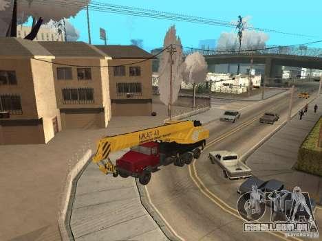 MKAT-40 com base no Kraz-250 para GTA San Andreas esquerda vista