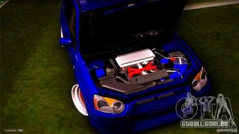 Subaru Impreza WRX STI 2011 para GTA San Andreas vista traseira
