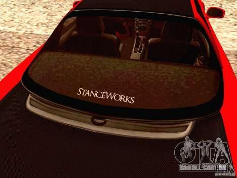 Acura NSX Stance Works para GTA San Andreas vista interior