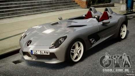 Mercedes-Benz SLR McLaren Stirling Moss [EPM] para GTA 4 vista de volta