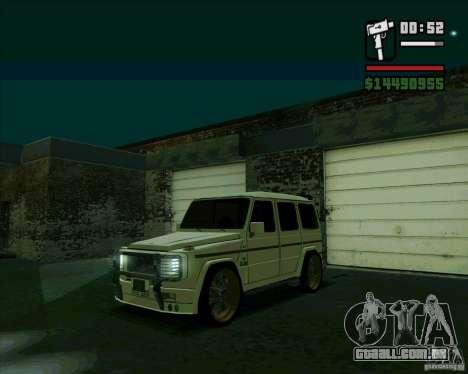 Mercedes Benz G500 Dub Edition para GTA San Andreas esquerda vista