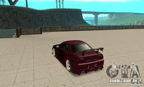 Nissan Skyline R32 Drift Edition para GTA San Andreas traseira esquerda vista