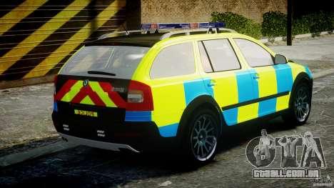 Skoda Octavia Scout Essex [ELS] para GTA 4 vista superior