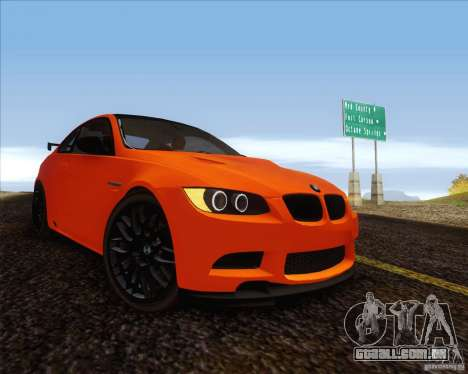 BMW M3 GT-S para GTA San Andreas traseira esquerda vista