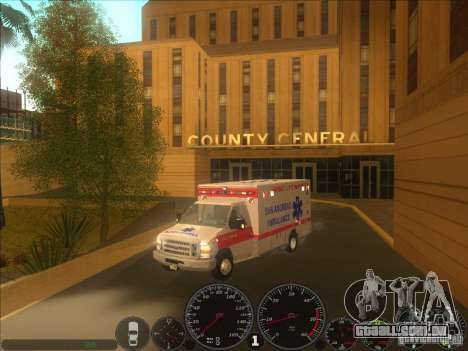 Ford E-350 Ambulance 2 para GTA San Andreas vista direita