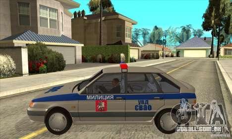 DPS DE ВАЗ 2114 para GTA San Andreas esquerda vista