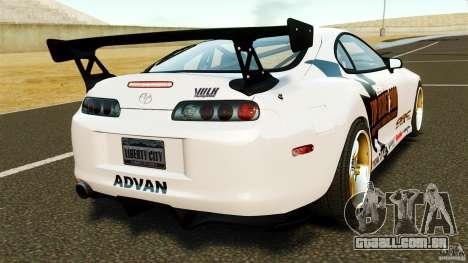 Toyota Supra Top Secret para GTA 4 traseira esquerda vista