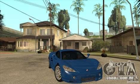 Ascari KZ1 para GTA San Andreas vista traseira
