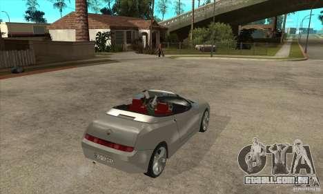 Alfa Romeo Spyder para GTA San Andreas vista direita