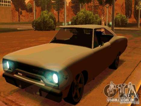 Plymouth Road Runner 426 HEMI 1970 para GTA San Andreas esquerda vista
