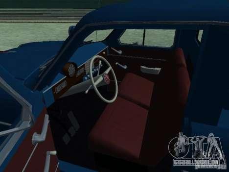 Captador Aeroflot Moskvich 430 para GTA San Andreas vista traseira